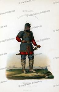 the cossack yermak  (1532- 1585), conqueror of siberia, ivan dem'ianovich bulychev, 1856