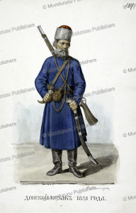 a cossack from the don area, fedor grigor'evich, 1825