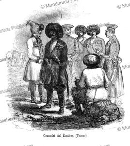cossacks, russia, anatollo di demidoff, 1841