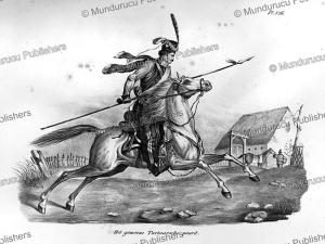tartar cavalry, tartary, h.r. schinz, 1845