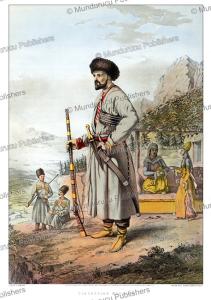 circassian warrior, john henry van-lennep, 1862