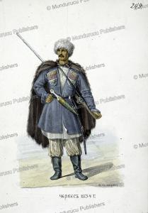 a circassian man in 1834, fedor grigor'evich, 1860
