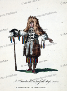 man of kamchatka in ceremonial dress, jean chappe d'auteroche, 1760