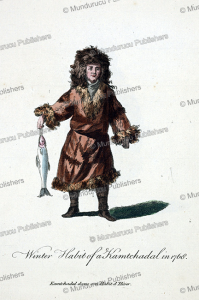 man of kamchatka in winter dress, jean chappe d'auteroche, 1760