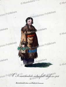 woman of kamchatka in ceremonial dress, jean chappe d'auteroche, 1760