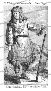 man of kamchatka in summer dress, kracheninnikow, 1770