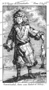 man of kamchatka in winter dress, kracheninnikow, 1770