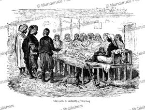 slave market at smyrna (izmir, turkey), anatollo di demidoff, 1841