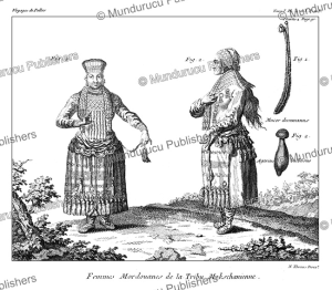 mordvin erzya people in traditional costume, mordovia, simon pallas, 1776
