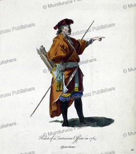 dress of a tartarian officer in 1765, jean-baptiste le prince, 1760