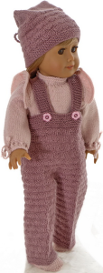 dollknittingpattern  modell 0200d jette - pants, sweater, cap, and shoes-(english)