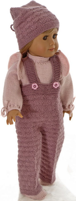 First Additional product image for - DollKnittingPatterns Modell 0200D JETTE - Hose, Pullover, Mütze und Schuhe-(Deutsch)
