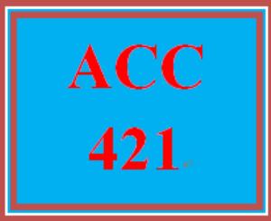 acc 421 entire course