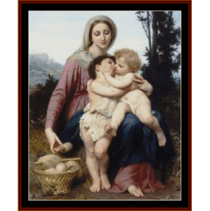 the holy family - bouguereau cross stitch pattern by cross stitch collectibles