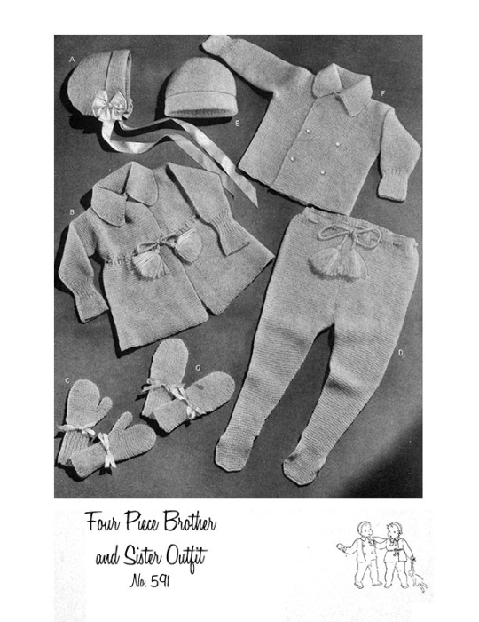 First Additional product image for - Woolies for Babies | Book No. 119 | The Spool Cotton Company DIGITALLY RESTORED PDF
