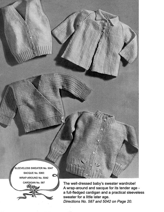 First Additional product image for - Woolies for Infants   Book No. 138   The Spool Cotton Company DIGITALLY RESTORED PDF