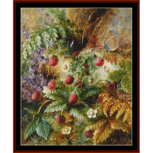 strawberries- durer cross stitch pattern by cross stitch collectibles