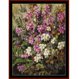 wild heather - durer cross stitch pattern by cross stitch collectibles