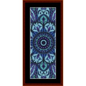 mandala 10 bookmark cross stitch pattern by cross stitch collectibles