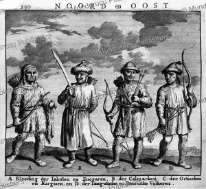 siberian hunters, nicolaas witsen, 1705