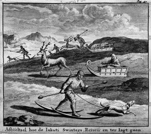 yakuts hunting, nicolaas witsen, 1785