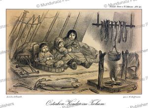 ostyak children in their tent, m. hoffmann, 1879