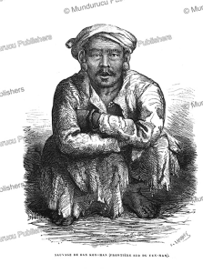 savage from ban kon-han, yunnan, c. laplante, 1873