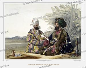 an oosbeg (uzbek) elchee or ambassador, uzbekistan, james rattray, 1848