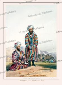 oosbegs (uzbeks) of mooraud bey, afghanistan, james rattray, 1848