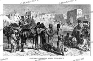 trading heads of enemies for luxurious robes, khiva, uzbekistan, john baptist zwecker, 1864