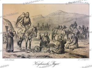 kyrgyz hunters, siberia, m. hoffmann, 1879