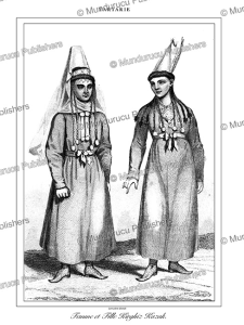 kyrgyz kazakh woman and daughter, tartary, lemaitre, 1848