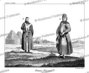 kyrgyz women, simon pallas, 1776