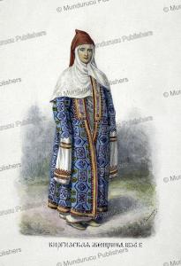 a kyrgyz woman in 1836, fedor grigor'evich, 1836