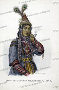 a young rich kyrgyz girl, fedor grigor'evich, 1836