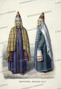 young kyrgyz ladies in 1836, fedor grigor'evich, 1836