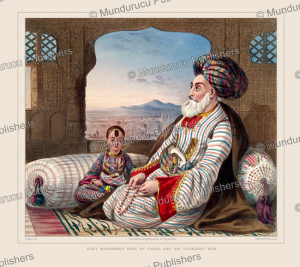 dost mahommed, king of kabul, and his youngest son, james rattray, 1848