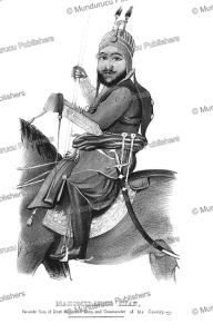 mahomed aeber khan, son of dost mohammad khan, afghanistan, g.t. vigne, 1840