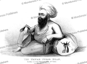 the nawab jubar khan, brother of dost mohammad khan, afghanistan, g.t. vigne, 1840