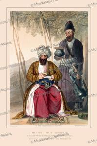 mahomed naib shurreef, a celebrated kuzzilbach chief of kabul, afghanistan, james rattray, 1848