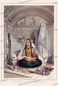 ladies of kabul in their in and out-of-door costume, james rattray, 1848
