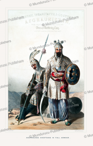 dourraunnee chieftains in full armour, james rattray, 1848