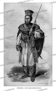 peeroz, a tribal warrior of afghanistan, alexander burn, 1843