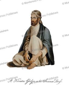 man of the ghiljy tribe, afghanistan, mountstuart elphinstone, 1815