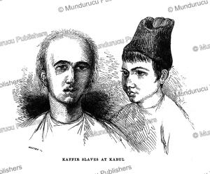 kaffir slaves at kabul, g.t. vigne, 1840