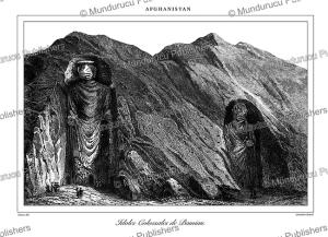 buddha's of bamiyan, afghanistan, durau, 1848