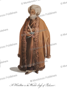 a hindkee (lower class of indian descent) of peshawar in winter dress, afghanistan, mountstuart elphinstone, 1815