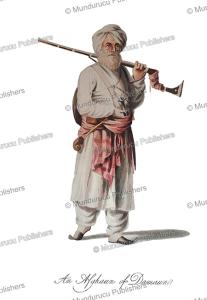 an afghan from the damaun region, afghanistan, mountstuart elphinstone, 1815