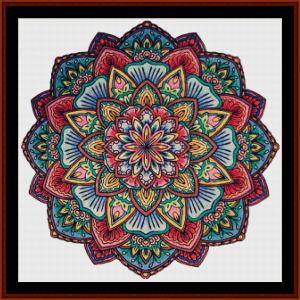 mandala 16 cross stitch pattern by cross stitch collectibles