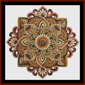 mandala 17 cross stitch pattern by cross stitch collectibles